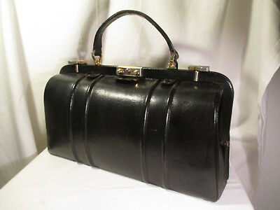 France Vintage Paris - Nizza Arzttasche Leder Handtasche Boutique Model Depose