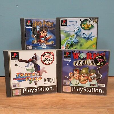 Playstation One PS1 Sony Games Bundle x4 - A Bug's Life,Worms, Harry Potter RARE