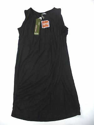 15092ef6831 Mothers en Vogue Women's Goddess Drape Sleeveless Nursing Dress Black M NWT