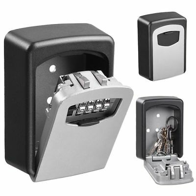 4 Digital Combination Key Lock Box Wall Mount Safe Security Storage Case