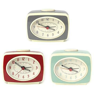 Small Classic Retro Analogue Alarm Clock Glow In The Dark Hands Battery Operated