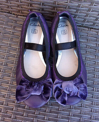 Clarks Purple Leather Shoes Size 13 F Fitting