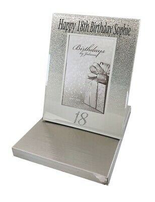 18th Birthday Gifts Personalised Photo Frame Picture Girls Boys Silver Age 18