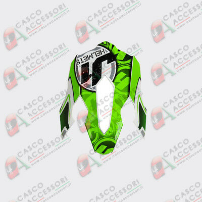 Frontino Origine Casco Cross  Just1 J12 Peak Mister X Green