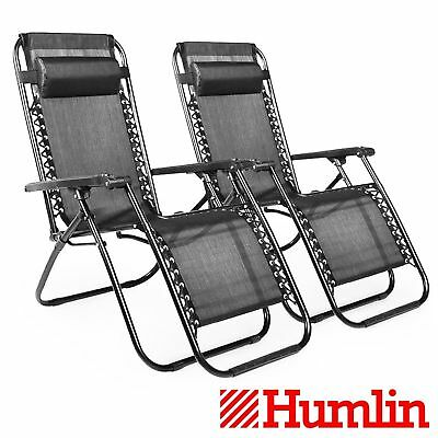Stupendous 2 X Reclining Sun Bed Loungers Folding Outdoor Garden Creativecarmelina Interior Chair Design Creativecarmelinacom