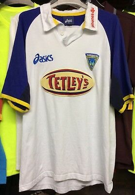 WARRINGTON Wolves 2001 ASICS Rugby League Home Shirt Men's XL