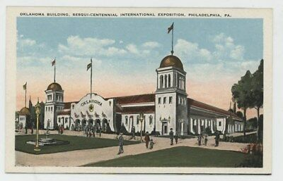 Mr Fancy Cancel Unused Phila Sesquicentennial Oklahoma State Building #322