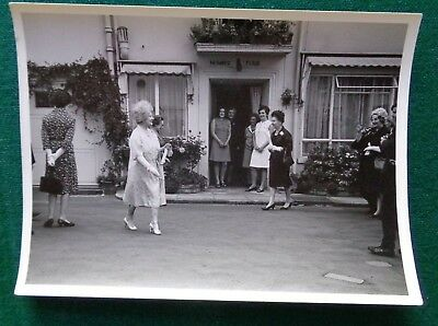 Antique Original Photo Queen Elizabeth the Queen Mother on a Royal Walk About