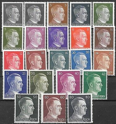 Germany 3rd Reich Mi# 781-798 MNH Hitler's Head 1941 Complete Set * *
