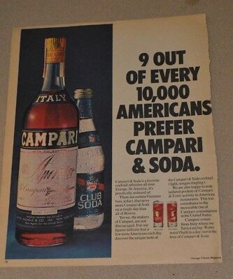 Vintage Campari Bitter  Liquer Advertisement And Sears Clothing Ad May 20, 1973
