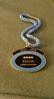 Annual Member's Badge ~ Exeter  Racecourse 2017 - 2018