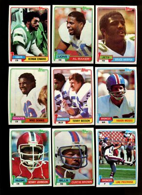 1981 Topps Football Lot Of 800 Mint *103832