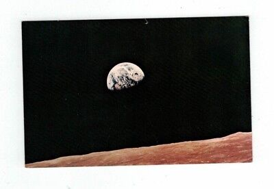 Vintage NASA Space Program post card View of Earth from the Moon