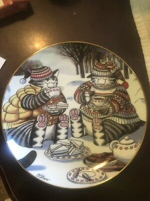 Vintage B. Kliban Cat Danbury Mint Collector Plate Afternoon Tea #A3174