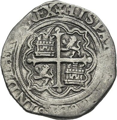 Lanz Spain Hispania Felipe Philip Ii 2 Reales Cob Mexico City Silver ±Ner927