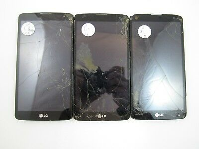 Lot of 3 Cracked/Account Locked LG G Vista D631 ATT Check IMEI CR/GL 3-938