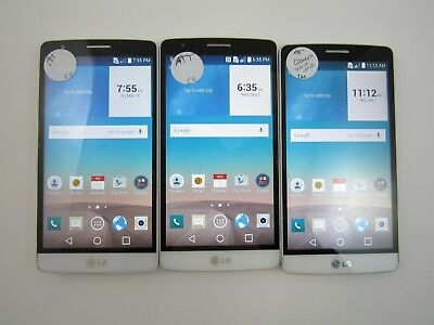 Lot of 3 LG G3 Vigor D725 ATT Check IMEI Fair Condition 3-603