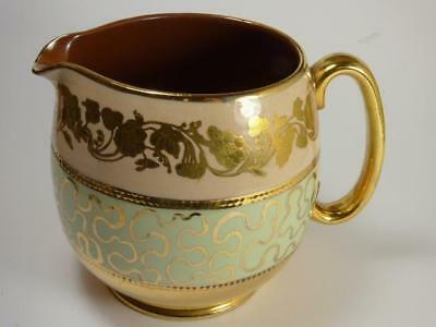 SADLER PEACH AND GOLD LUSTRE JUG, c.1.5pts,  5in high
