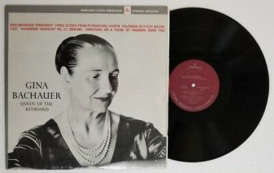 GINA BACHAUER Queen Of The KEYBOARD. Mercury LP 1963 Piano. Shrink