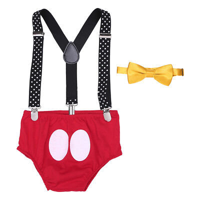 Girl Boy Baby Infant Minnie Mickey Mouse Costume Cake Smash Photo Props Outfits