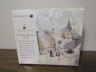 Department 56 Seasons Bay The Perfect Wedding Gift Set of 8 EUC