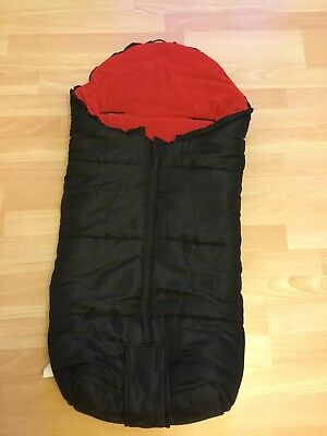 Cuddles Collection Universal Footmuff, Cosy Toes, Black & Red, VGC