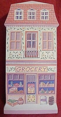 THE LENOX VILLAGE FLATS WOODEN WALL HANGING 1997 GROCERY STORE - mint cond. SALE