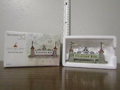 Department 56 Seasons Bay Sign Spring Summer Village NEW