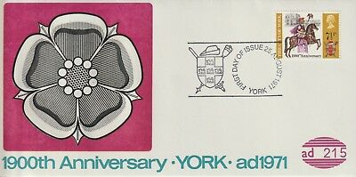 Gb Stamps First Day Cover 1971 York 1900 Anniversary York Official Collection