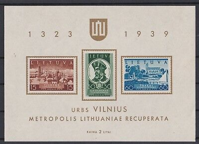 Briefmarken Litauen Block 1939**