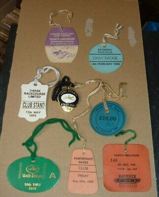 8 X Horse Racing Badges York Thirsk Pontefract Chester Etc