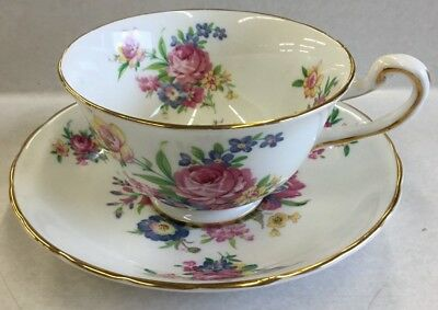 Vintage Royal Chelsea English Bone China Cup and Saucer Floral Pattern