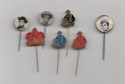 Vintage BONANZA and SONS pin badges Television Serie TV Show Hoss Western Action