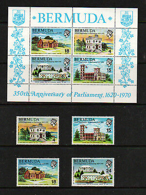 Bermuda 1970 Set, 4 Values Plus M.s.   M.n.h.