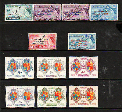 BERMUDA 1953 X 6d,  + 4 SETS, 11 VALUES, MINT