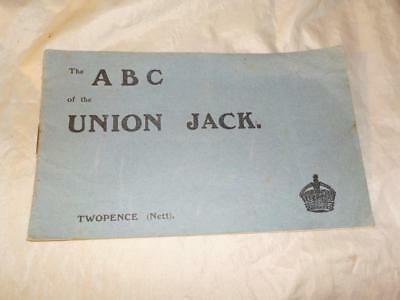 """Original Vintage Flag Booklet """"the Abc Of The Union Jack"""" By Gale & Polden"""