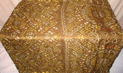 Henna Pure Silk 4 yard Vintage Sari Saree SALE DEAL BARGAIN STEAL Best NR #9EIPY