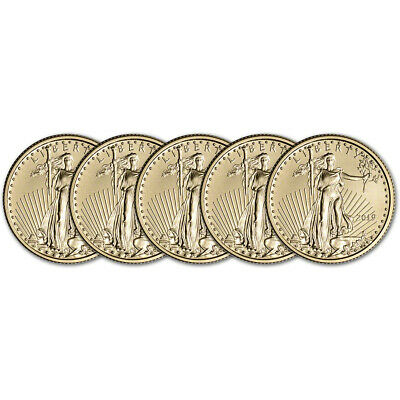 2019 American Gold Eagle 1/4 oz $10 - BU - Five 5 Coins