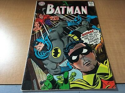 Batman 1967 DC Comic Book #196 HI