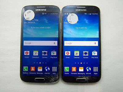 Lot of 2 Cracked Samsung Galaxy S4 I545 Verizon Check IMEI 5CR 1718