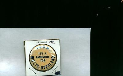 1925 Automobile Advertising Pin It's A Landslide for Willys-Overland