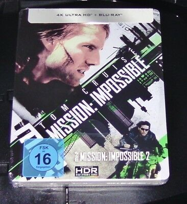 Mission: Impossible 2 4k Ultra HD Blu-Ray+Blu-Ray Limited Steelbook New