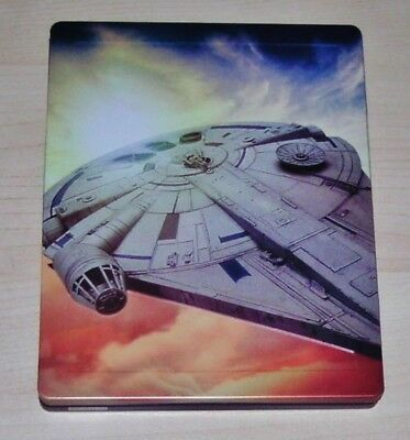Solo a Star Wars Story 3D Blu-Ray + Blu-Ray Embossed Limited Steelbook New