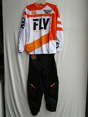 YOUTH motocross combo set,THOR PHASE pants 28,FLY F-16 jersey extra large
