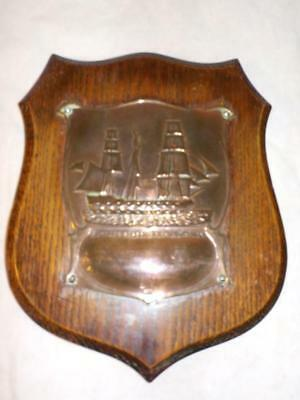 1805-1905 Death Of Nelson Centenary Commemorative Plaque From Hms Victory Copper