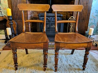 A Pair of Original Mahogany Regency Chairs.