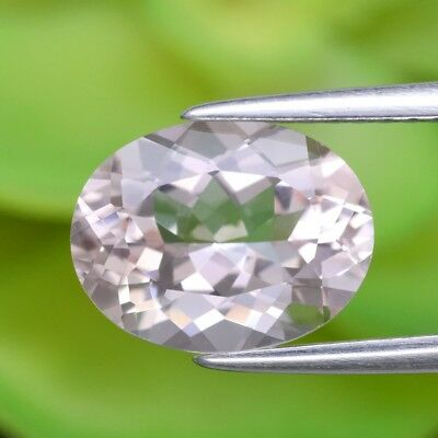 2.28ct 10x7.7mm IF Oval Natural Unheated Light Pink Morganite