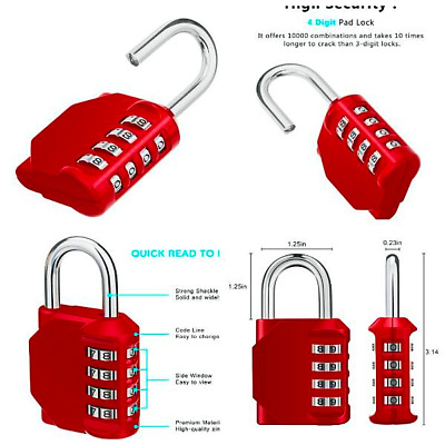Master Lock 178D Set Your Own Combination Padlock, 2 in. Wide w..FREE SHIPPING