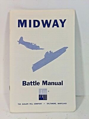 Board Game Parts, Midway, Battle Manual Instructions, Avalon Hill, 1964