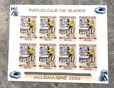 1 Guinea Sheet Imperforated With Space And Germany Football World Cup